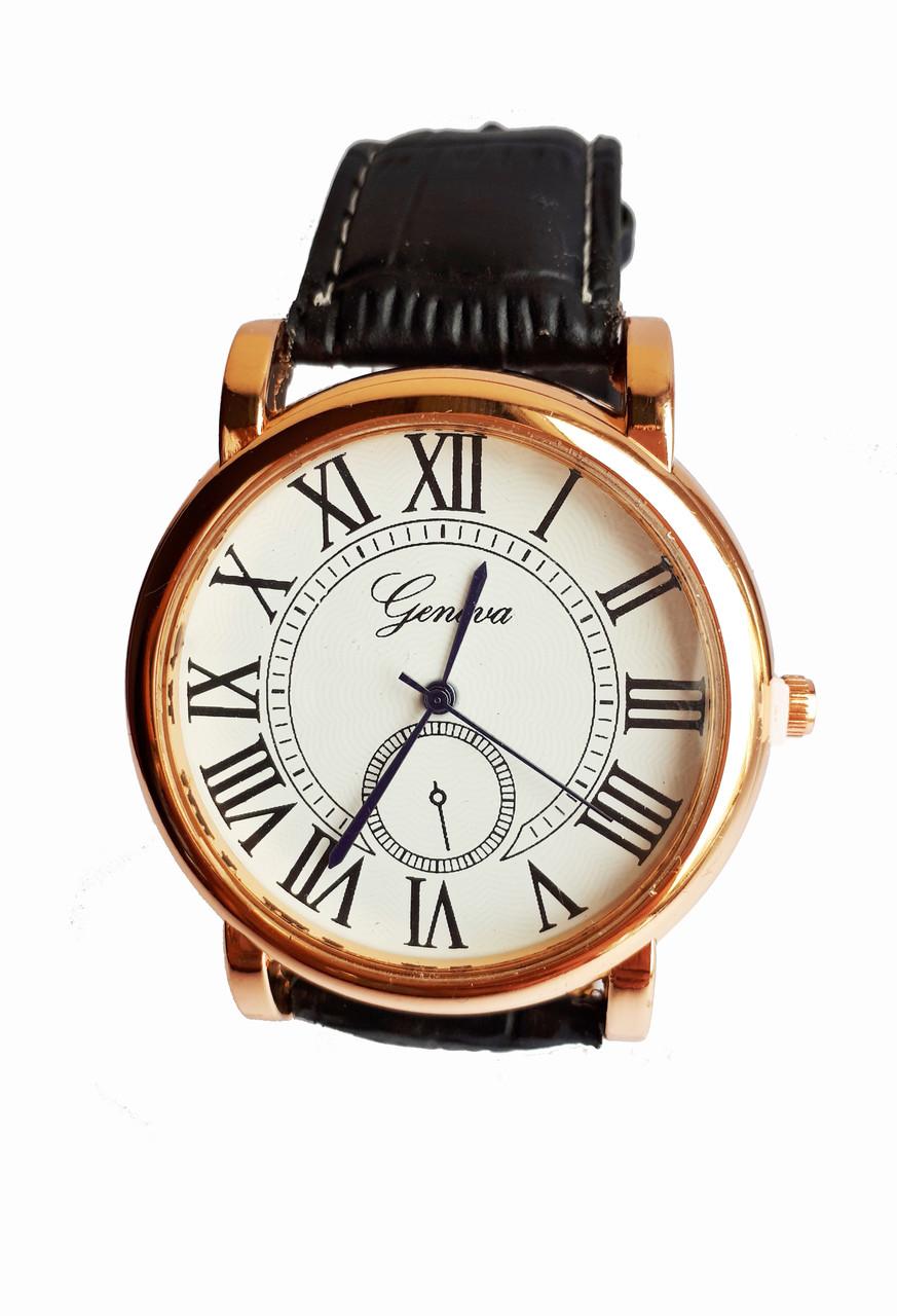 Часы кварцевые мужские GN римские цифры