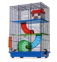 Клетка для хомяка, мыши, грызунов + опилки + корм 16 Синий