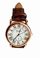 Часы кварцевые мужские Geneva римские цифры коричневый, фото 1