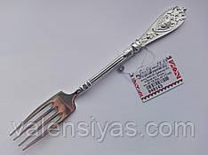 Серебряная вилка десертная. Столовое серебро 925 пробы.