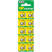 Часовая алкалиновая батарейка G3 GP 10шт., 1000649, купить батарейки, батарейки оптом, батарейки для слуховых аппаратов, G3 GP, батарейка G3, купить