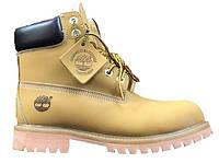 Зимние женские ботинки Timberland Yellow/Brown Fur, на меху