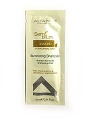 ALFAPARF Шампунь с микрокристаллами для блеска волос Semi Di Lino Diamond 10 мл (пробник)