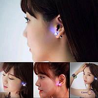Сяючі LED сережки гвоздики (кольори в асортименті), 1001676, 0