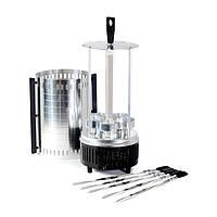 Шашлычница электрическая (электрошашлычница) на 6 шампуров, 1000449, бытовая электрошашлычница, Шашлычница электрическая, алюминивая шашлычница,