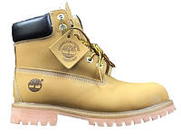 Зимние мужские ботинки Timberland Yellow/Brown Fur, на меху