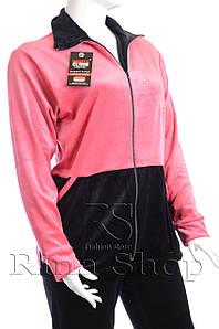 Велюровый женский спортивный костюм K109