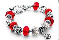 """Браслет в стиле Pandora """"Сердце"""" на руку, 1001198, браслет pandora, Браслет Пандора Pandora, браслет женский в стиле Pandora, Браслет в стиле Pandora,"""
