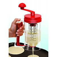 Диспенсер для теста с миксером Pancake Machine для приготовления панкейков, 1001373, Диспенсер для жидкого тес