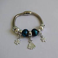 Женский браслет в стиле Пандора на магнитной застежке (толстый), 1001364, браслеты в стиле пандора