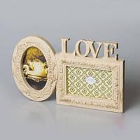 Мультирамка Love для фотографий на стену - на 2 фото, 1001430, мультирамка, мультирамка для фото, мультирамка на 2 фото, фоторамка коллаж, Коллаж