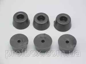 Ніжка гумова для корпуса РЕА, №3 (ф15/ф18, h10 мм), чорний