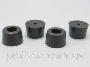 Ніжка гумова для корпуса РЕА, №4 (ф18/ф20, h13 мм), чорний