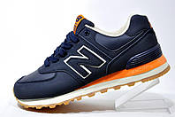 Кроссовки унисекс New Balance 574 Classic, Dark Blue\Orange