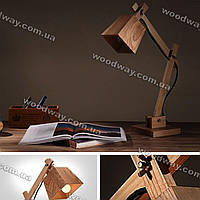 Лампа из натурального дерева