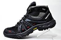 Зимние ботинки Salomon, мужские на меху Black