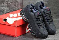 Чоловічі зимові кросівки в стилі Nike 95 темно-сині (3518) d56041d623ec3