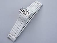 Плечики деревянные белого цвета, 45 см, 6 штук в упаковке