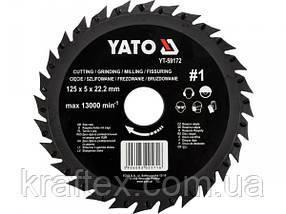 Круг-фреза по дереву 125 мм YATO YT-59172