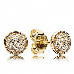 Золотые cерьги «Ослепительные капли»