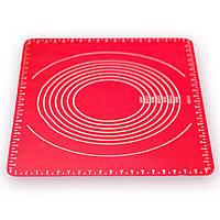 Коврик силиконовый для раскатки теста 49,5*39,5*0,1 см Kamille