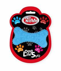 Іграшка для собак жувальна Кістка Pet Nova 10.5 см синій