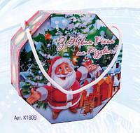 Сладкий новогодний подарок из конфет Восьмигранник, вес 510 гр
