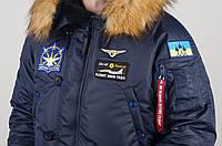 Мужская парка Olymp - Аляска N-3B, Куртка мужская зимняя с нашивками, патчи, зимняя парка аляска