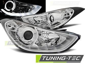Фары передние тюнинг оптика Hyundai Elantra хром