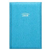 Ежедневник датированный А5 на 2018 год BRUNNEN Стандарт Denim бирюза, фото 1