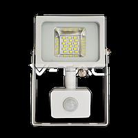 Св/діодний прожектор V-TAC з датчиком руху 10Вт smd білий 4500К