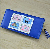 Кошелек женский синий (бол.) Cat 4120-1BLue, фото 1