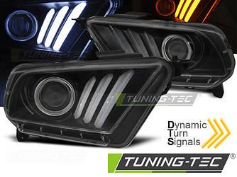 Фары передние тюнинг оптика Ford Mustang черные