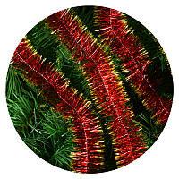 Дождик (мишура) 5 см (3м) (красный/ золотые концы), фото 1