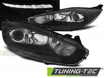 Передние фары Ford Fiesta (13-15) тюнинг оптика (черные)
