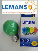 Светодиодная лампа зеленая 1,2W E27 Lemanso