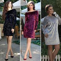 Модное женское платье-туника норма / Украина / бархат