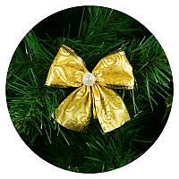 Бантик на елку (золотой с узором), фото 1