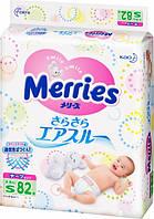 Подгузники Merries S (4-8 кг), 82 шт.