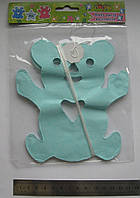 Гирлянда-подвеска растяжка, раскраска Мишка №8434 3м