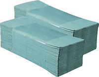 Полотенца бумажные листовые зеленые макулатурные 1слой 160 листов VZ160
