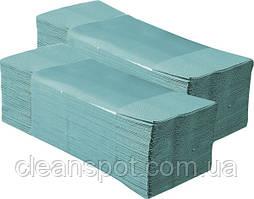 КС Полотенца бумажные листовые зеленые макулатурные 1слой 200листов