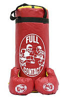 """Боксерский набор """"Full contact"""" (детская боксёрская груша и перчатки)"""
