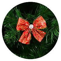 Бантик на елку (красный с узором), фото 1