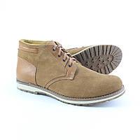 Мужские замшевые зимние ботинки на меху (шерсть) UNCIA SHOES