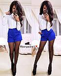 Женский стильный костюм: блуза и шорты (4 цвета), фото 4