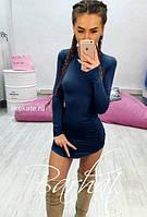 Платье женское мини темно-синий