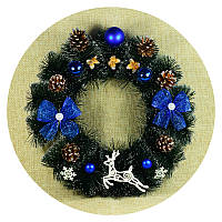 Рождественский, новогодний венок (40см)
