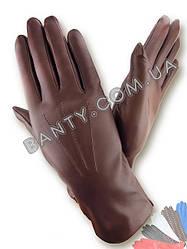 Женские перчатки на шерстяной подкладке, модель 001