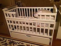 """Дитяче ліжко-трансформер """"Човник"""" з ящиком слонова кістка(ваніль), фото 1"""